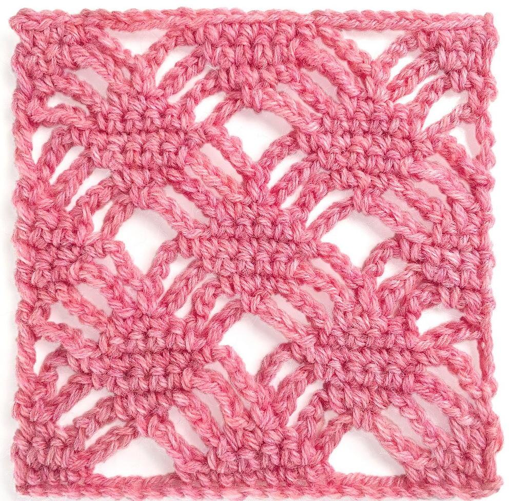 Spider Web Stitch Crochet Pattern | AllFreeCrochet.com