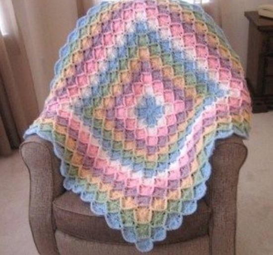 Rainbow Bavarian Crochet Blanket