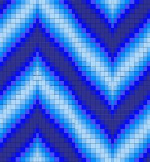 Blue Bargello Quilt Pattern Favequilts Com