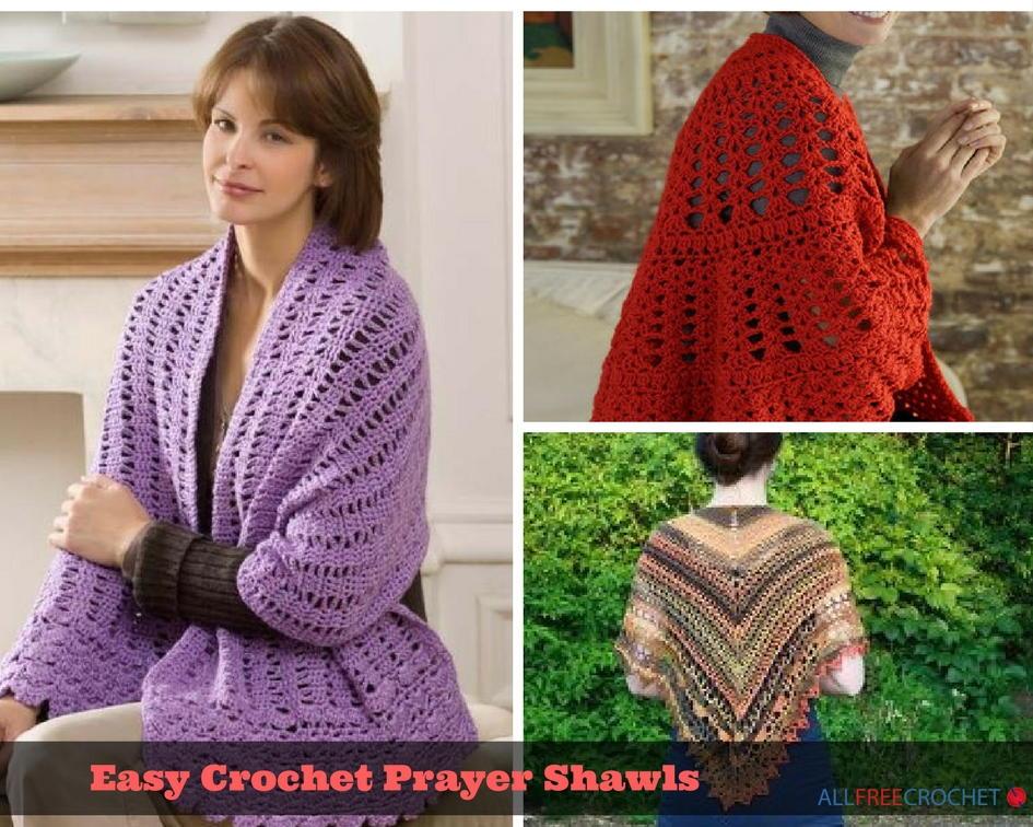 Easy Crochet Shawl Patterns Beginners : 28 Easy Crochet Prayer Shawls AllFreeCrochet.com