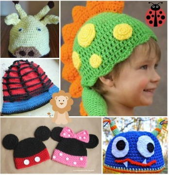 Crochet Animal Hats  55 Free Crochet Hat Patterns for Kids ... 154a1a3a59ac