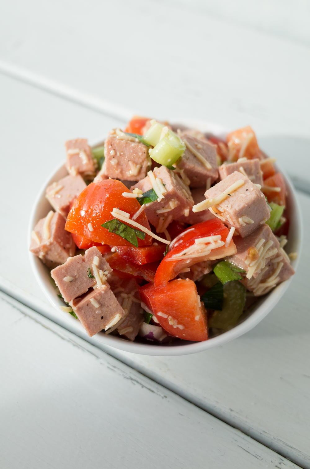 Throw Together Bologna Salad | RecipeLion.com