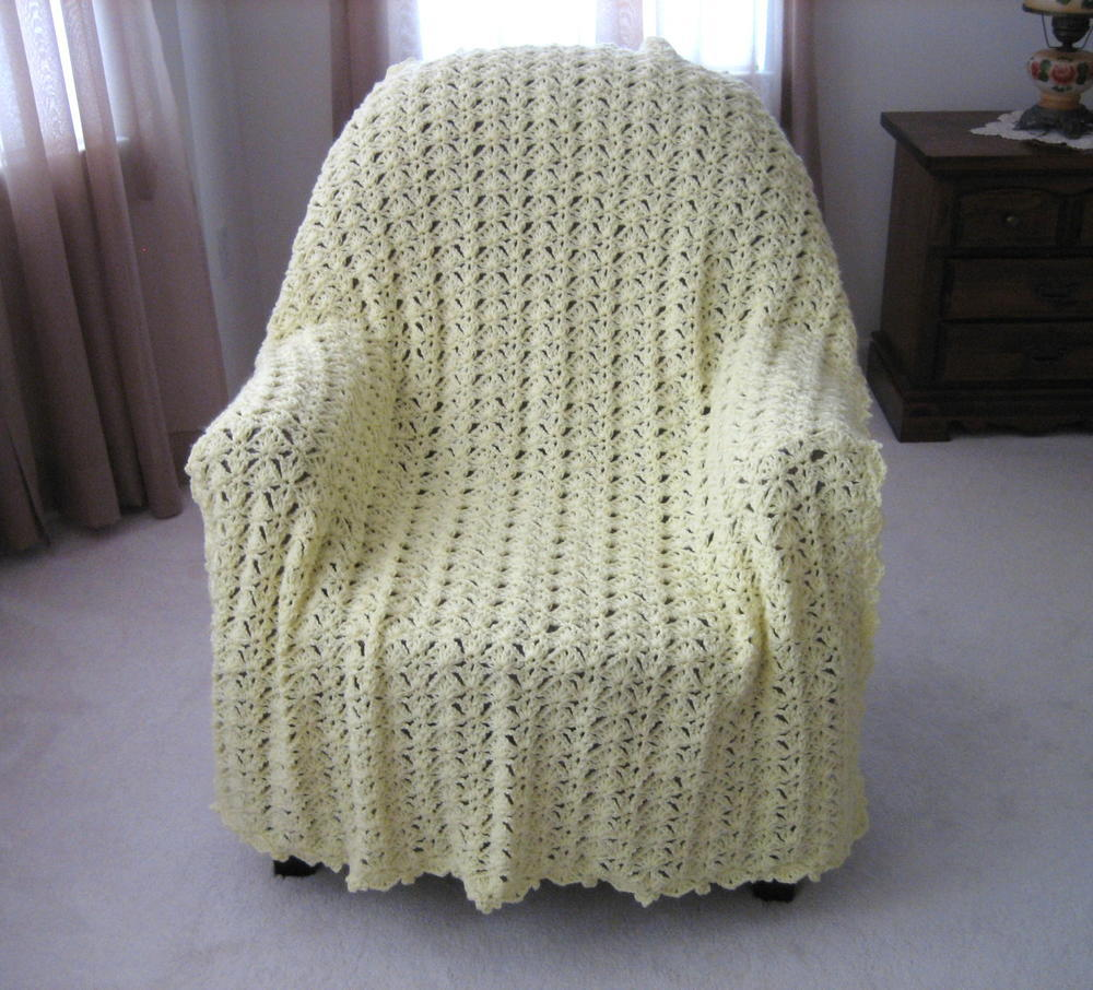 luxurious lace crochet afghan