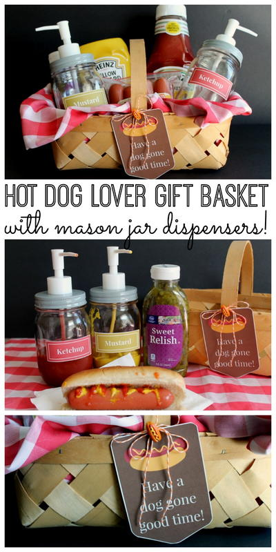 Hot Dog Lover Gift Basket Idea