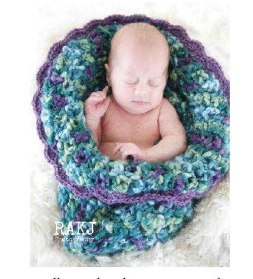 Baby Bloom Cocoon AllFreeCrochet.com