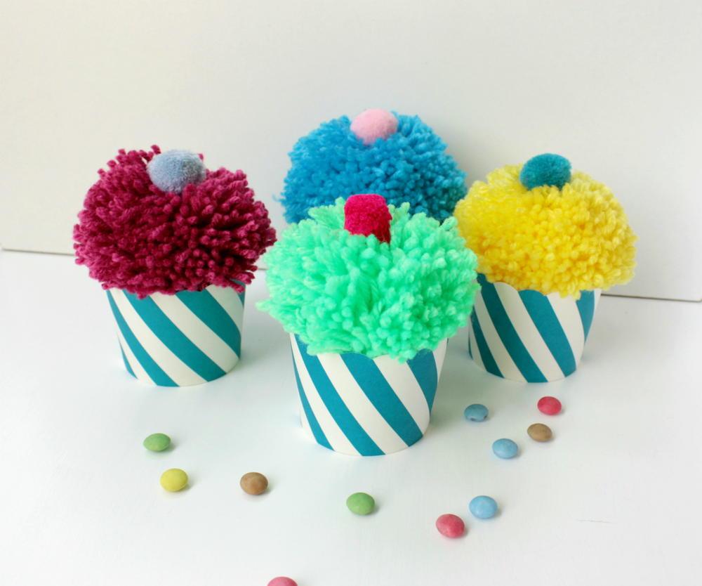 Pom Pom Cupcakes Favecrafts Com