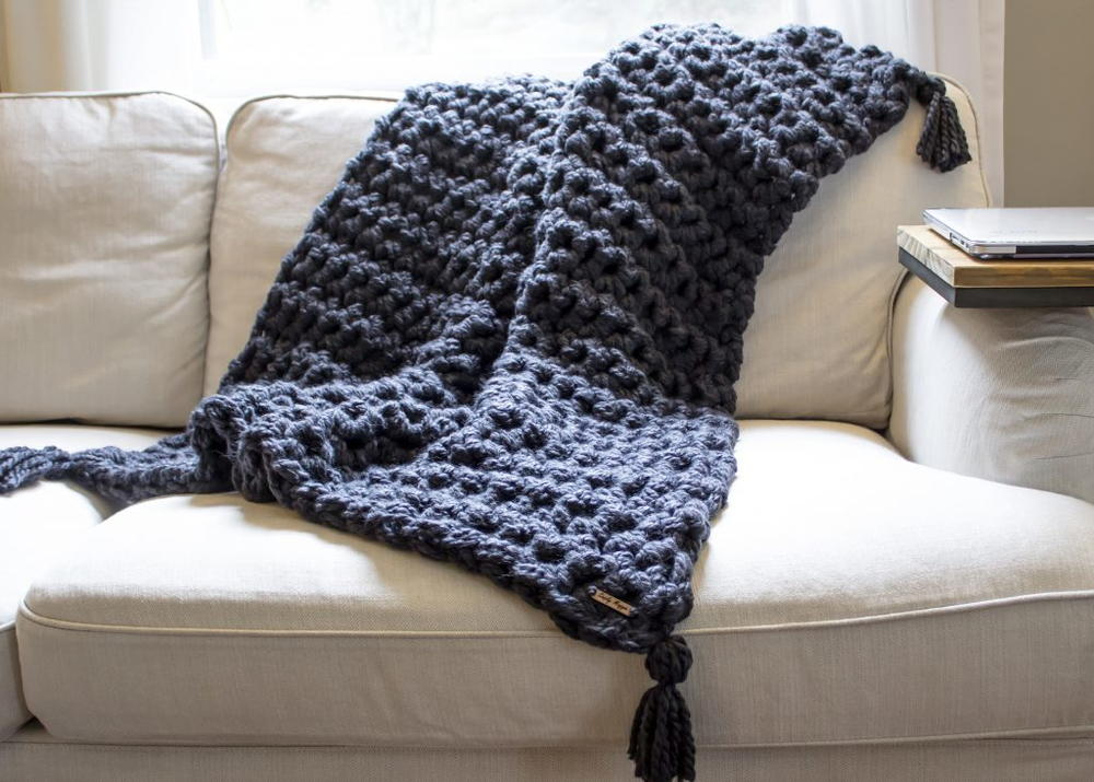 Hand Crochet Chunky Blanket Favecrafts Com