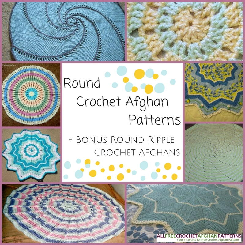 10 Round Crochet Afghan Patterns