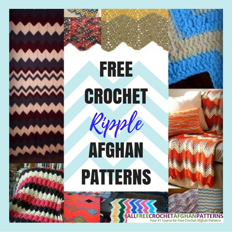 Easy Crochet Ripple Afghan Tutorial : 26 Free Crochet Ripple Afghan Patterns ...