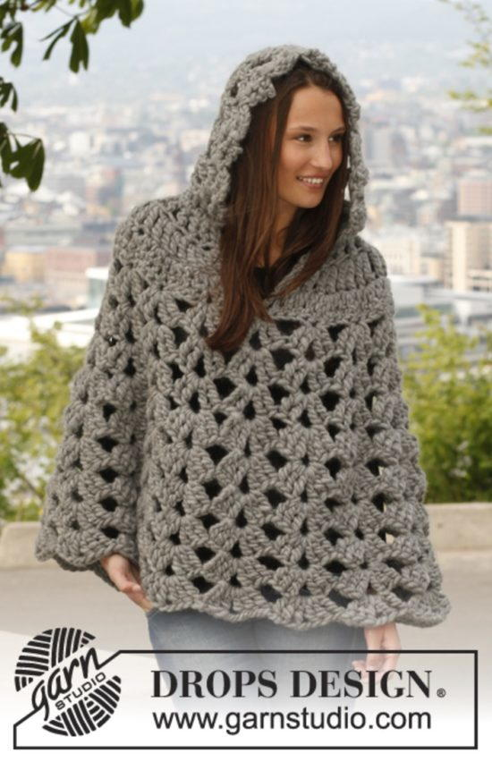 Thick And Neutral Crochet Poncho Allfreecrochetcom