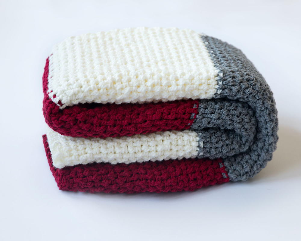 Quick And Easy Color Block Throw