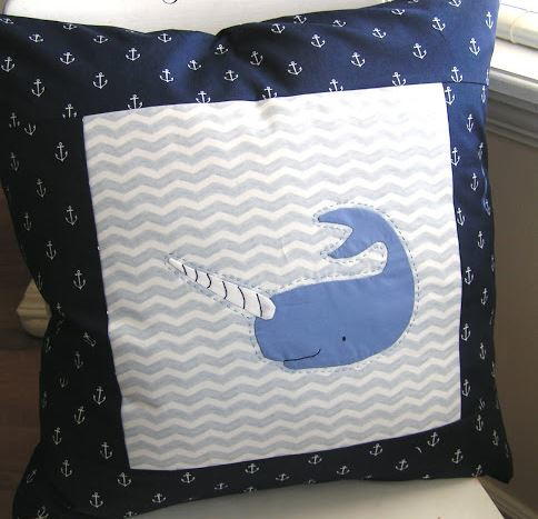 Arctic Narwhal Applique Pillow Favequilts Com