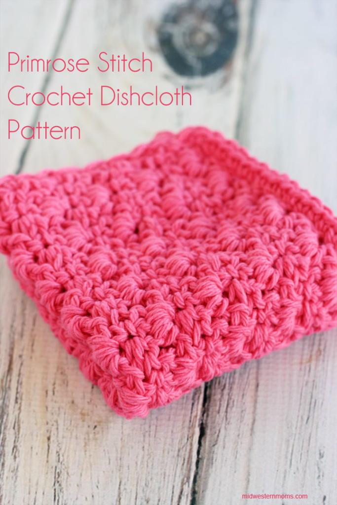 Primrose Stitch Crochet Dishcloth Allfreecrochet
