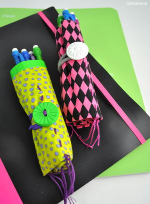Wrap around ribbon bookmark for Duct tape bookmark ideas