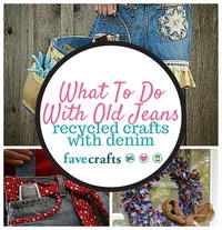 What To Do With Old Jeans: 34 Recycled Crafts With Denim