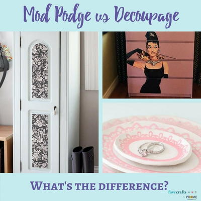 Mod Podge vs Decoupage