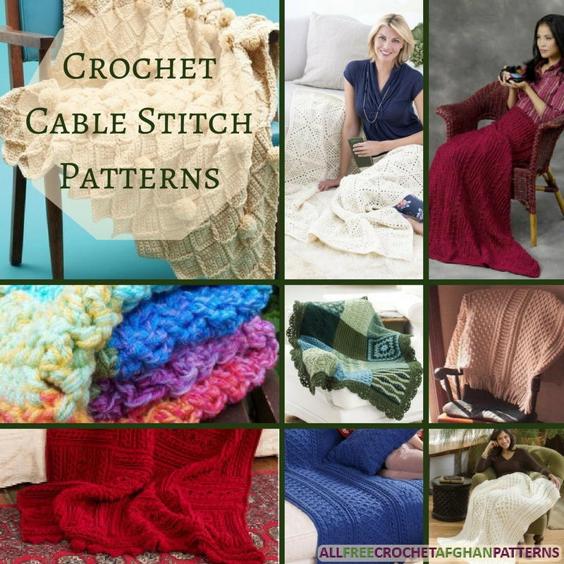 Crochet Cable Stitch Instructions : 23 Crochet Cable Stitch Patterns ...