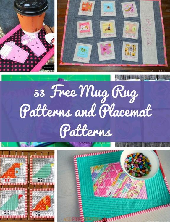 53 Free Mug Rug Patterns And Placemat Patterns