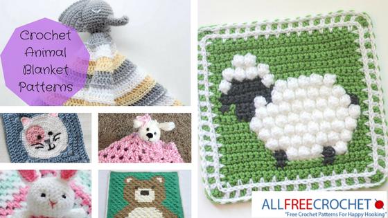27 Crochet Animal Blanket Patterns Allfreecrochet Com