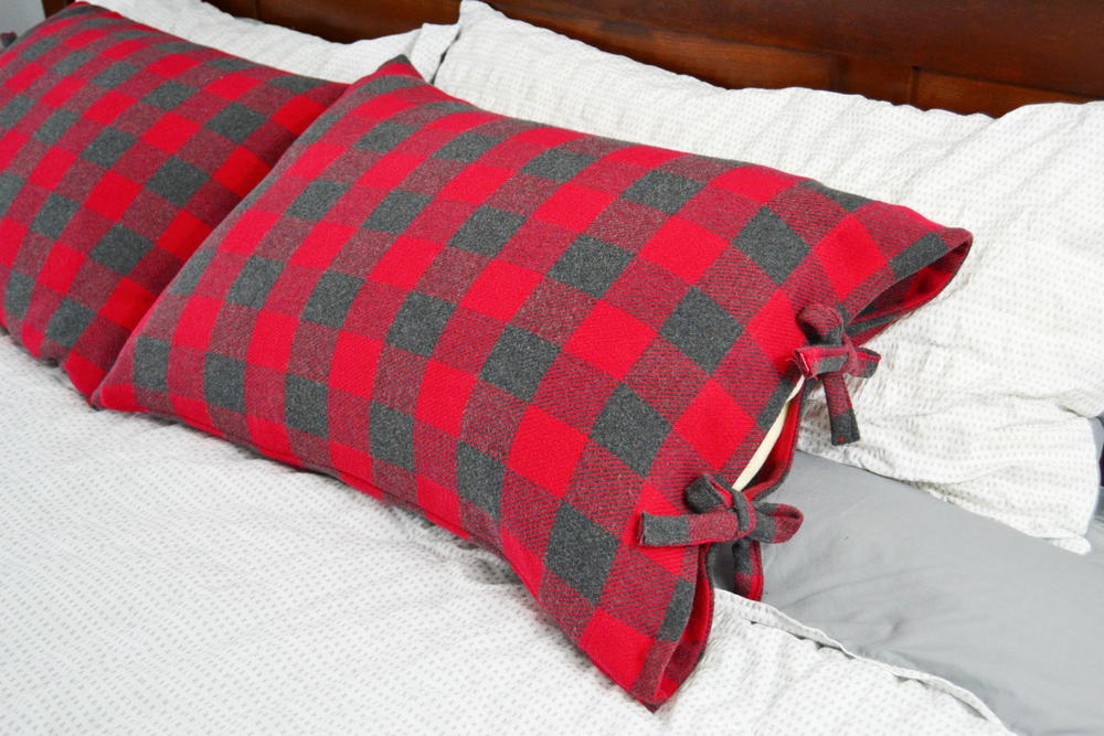 Bed Pillow Cases with Ties