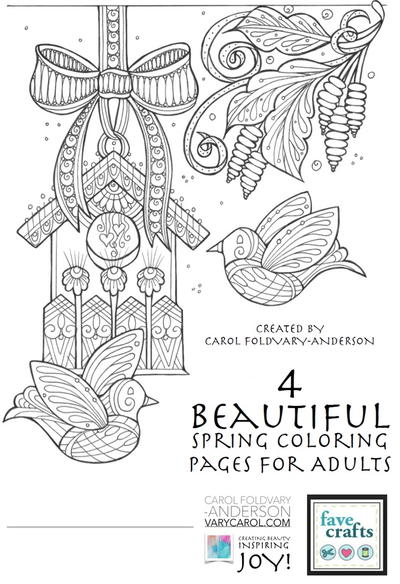 Epic image within free printable spring coloring pages for adults