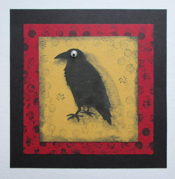 Grungy Crow Card