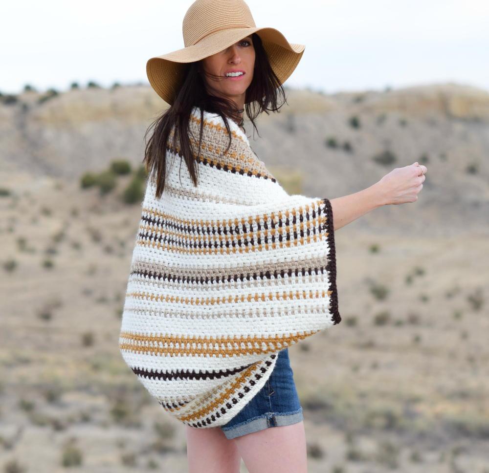 Baja Blanket Sweater | AllFreeCrochet.com