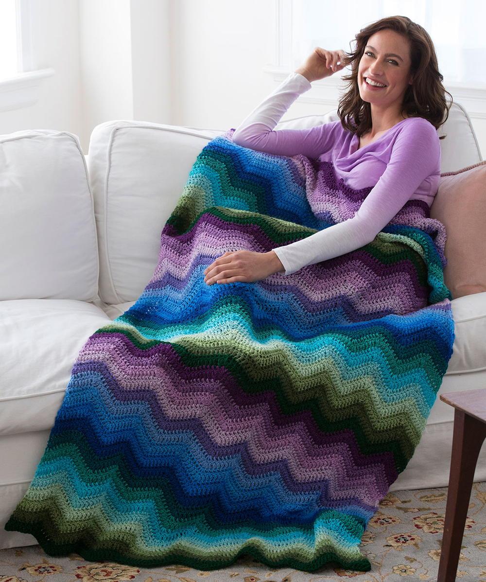 Spellbinding Crochet Ripple Blanket Allfreecrochet Com