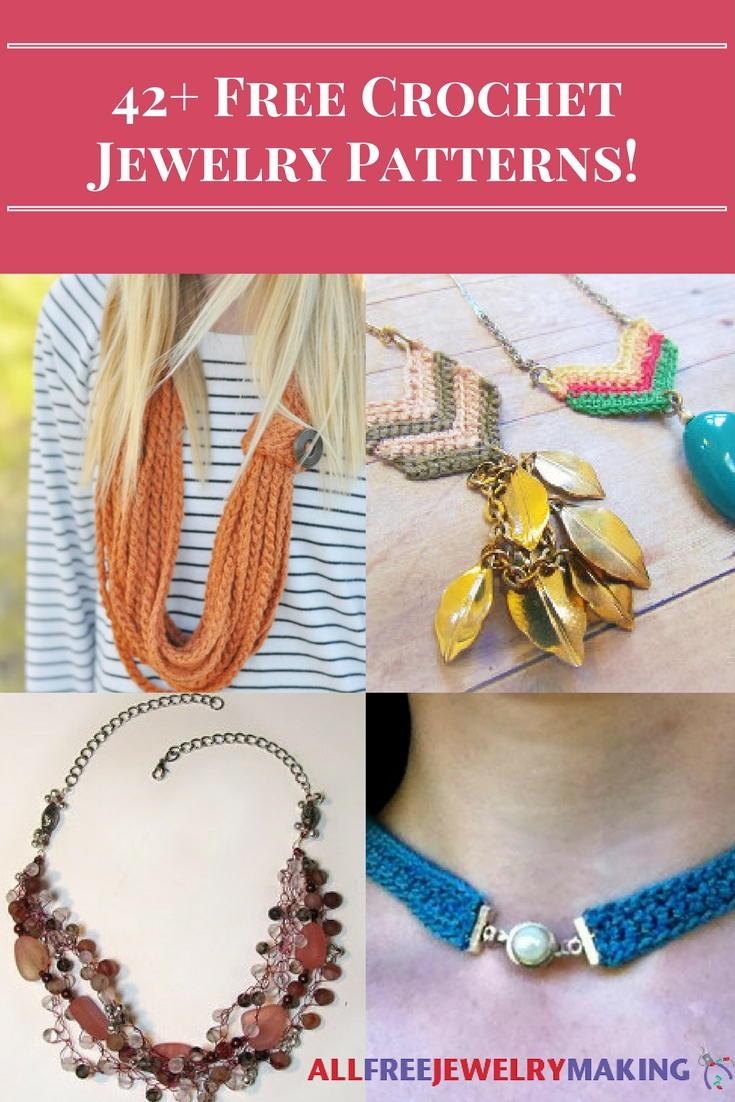 42 Free Crochet Jewelry Patterns Allfreejewelrymaking Com