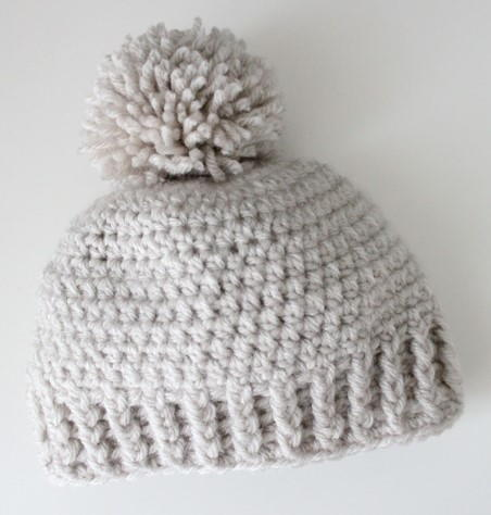 Crocheted Ribbed Beanie Hat Allfreecrochetcom