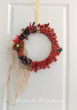 Weatherproof Fabric Wreath