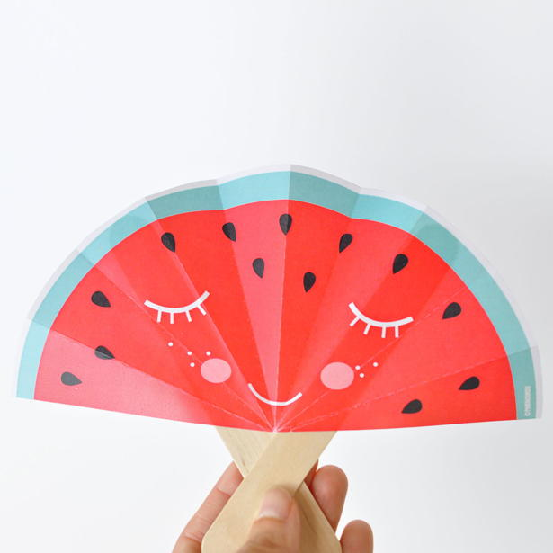 Printable Fruit Fan Paper Craft Allfreekidscrafts Com