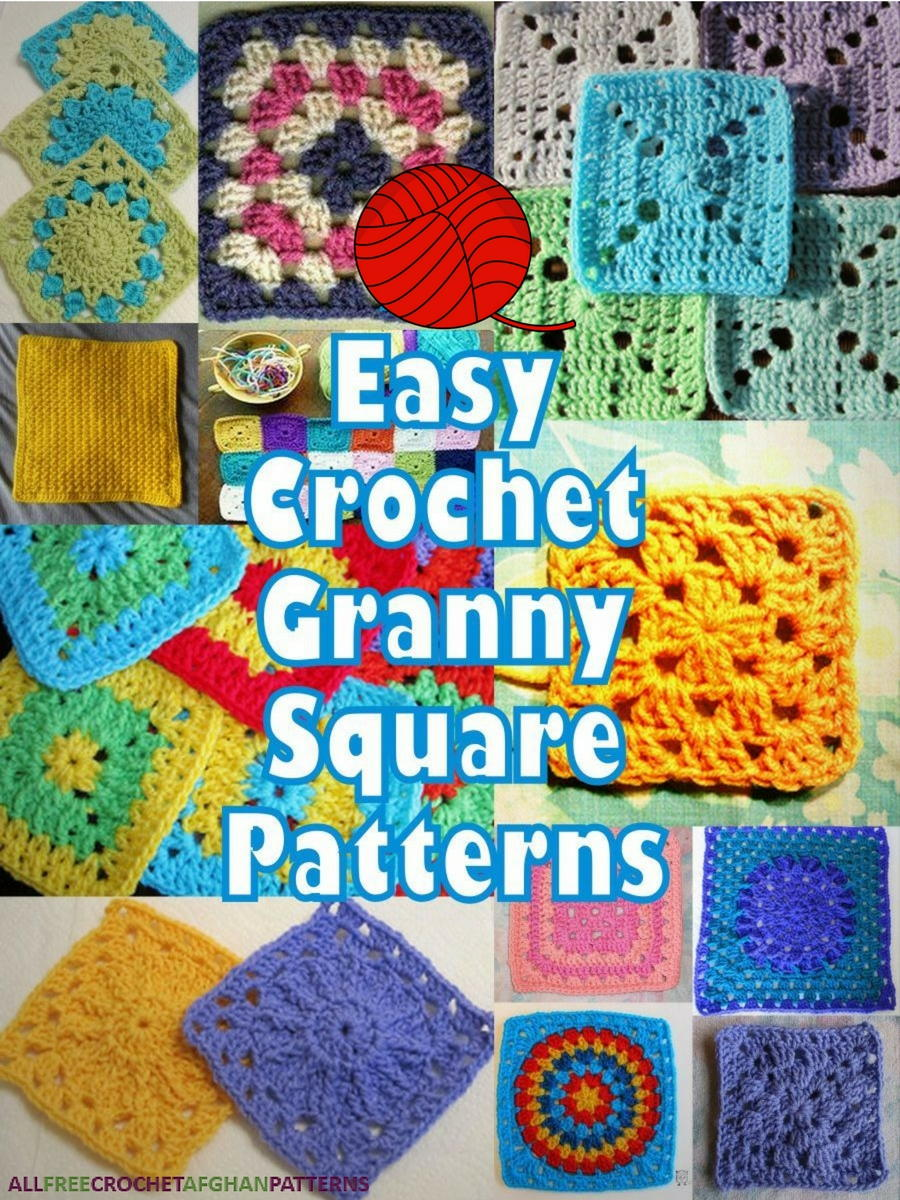 46 Easy Crochet Granny Square Patterns Allfreecrochetafghanpatterns Com