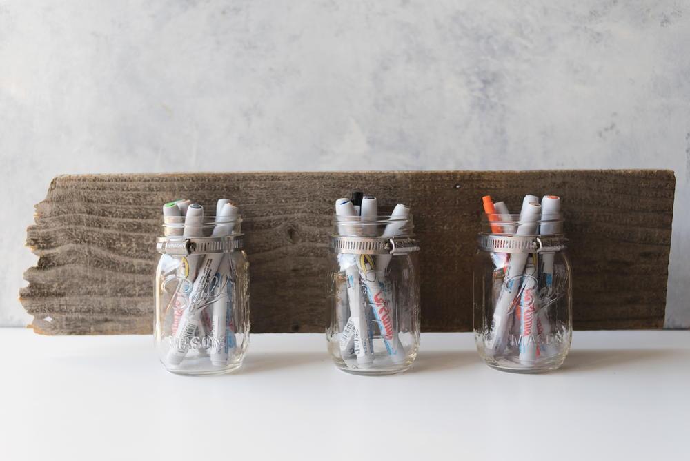 Diy mason jar organizer for Mason jar craft storage