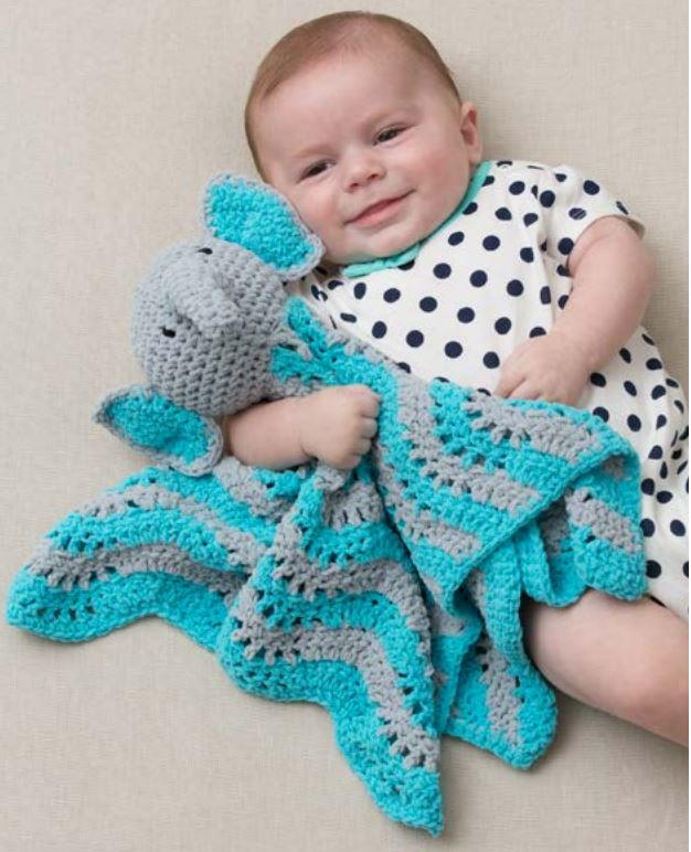 Crochet Elephant Lovey / Blanket - YouTube | 772x626