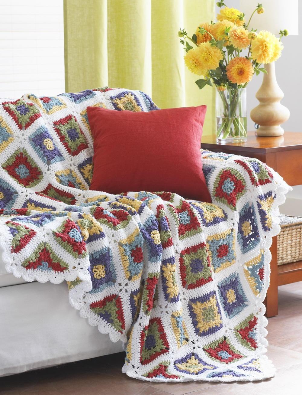 Crochet Pattern For Granny Blanket : Country Charm Crochet Blanket Pattern ...