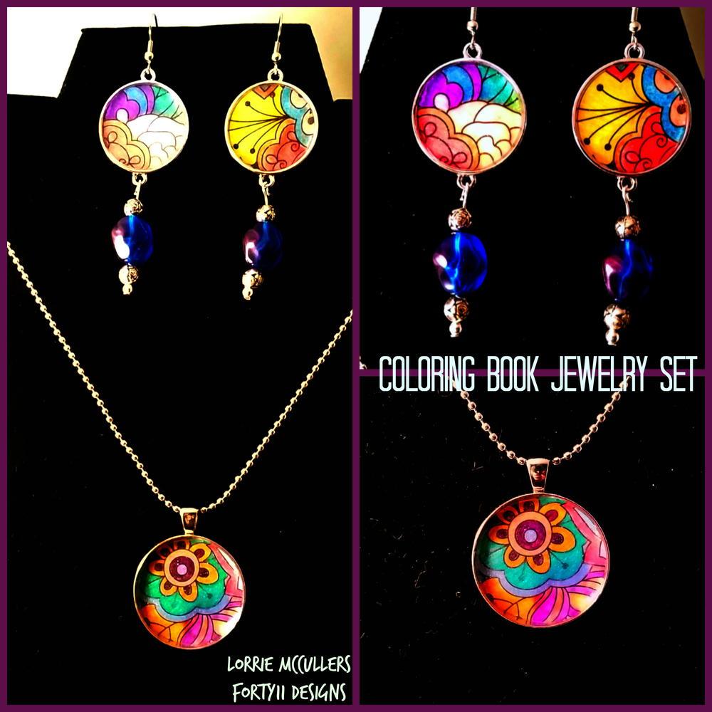 large princess coloring book : Coloring Book Jewelry Set Favecrafts Com