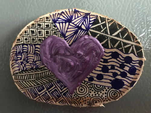 Zentangle Fridge Magnet_4