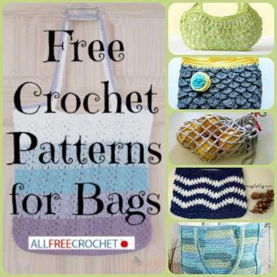 Cable Stitch Handbag Crochet Purse Pattern Crocheted Bag