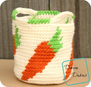 Cute Carrots Basket