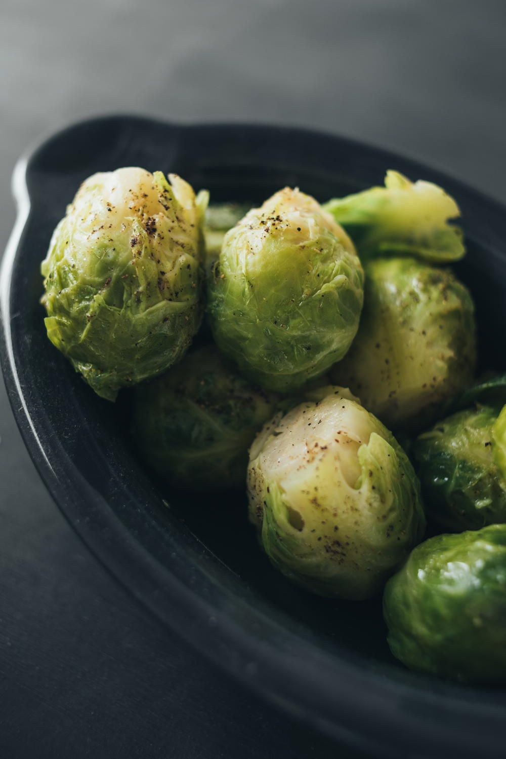 boiled brussels sprouts