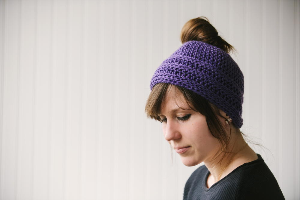Quick and Easy Messy Bun Hat  5f8841f1d61c