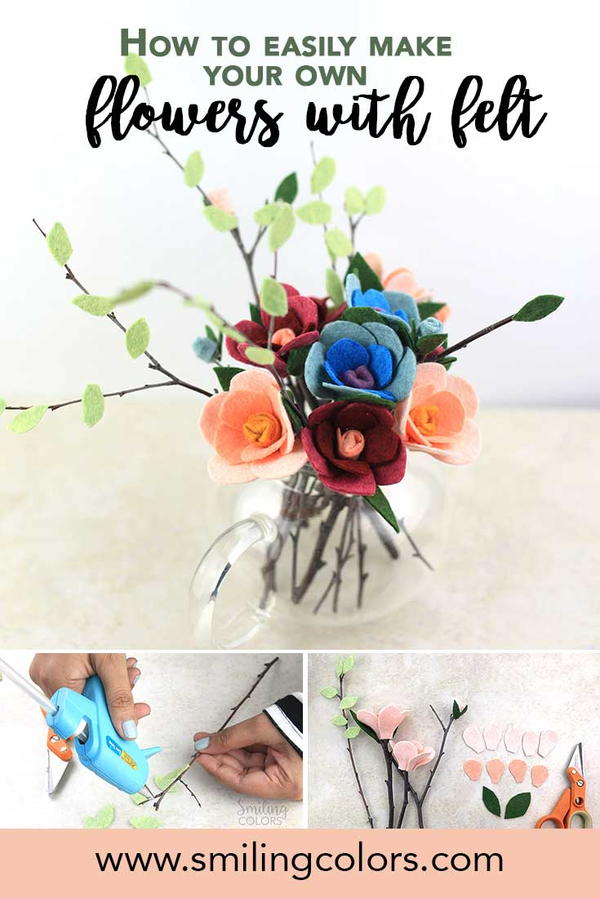 Make Your Own Flowers with Felt
