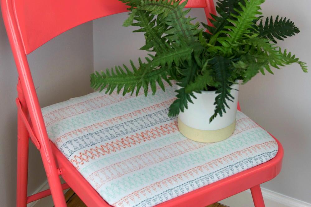 Diy Reupholstered Folding Chair Favecrafts Com