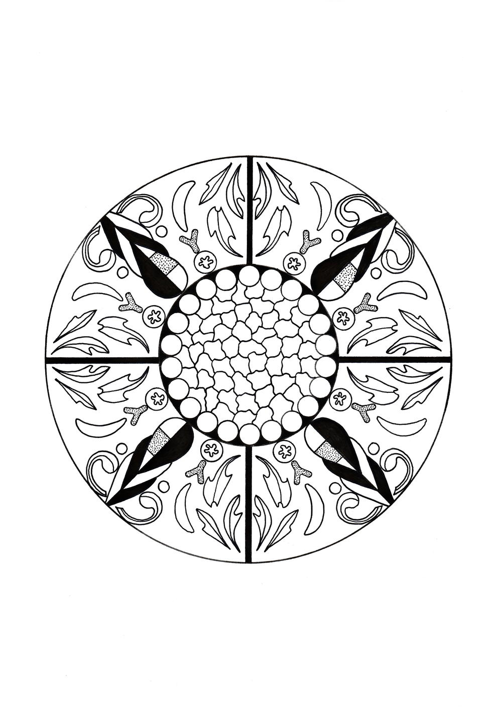 Moroccan Inspired Adult Coloring Page