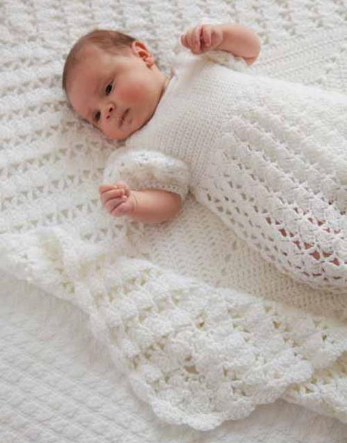 Crochet Patterns Christening Blanket : Princess Charlottes Christening Crochet Blanket ...
