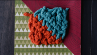 How to Crochet Diamonds From Squares