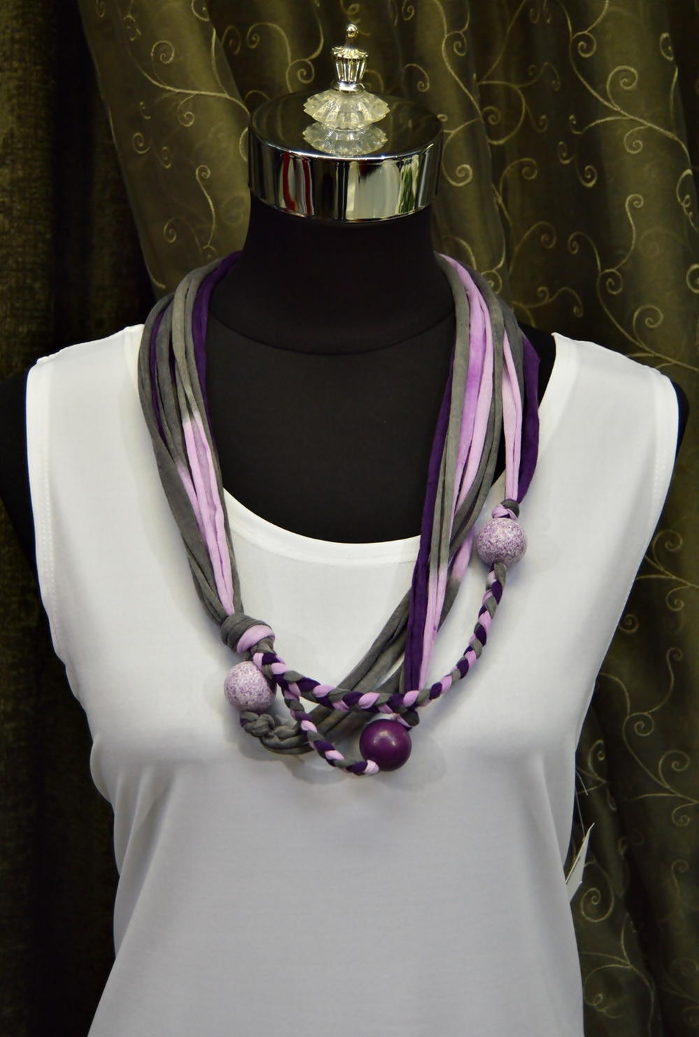 Royal Purple T Shirt Yarn Necklace Favecrafts Com
