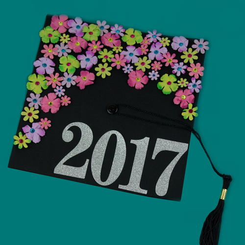 DIY Floral Graduation Cap