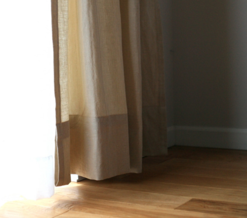 Hemming curtains